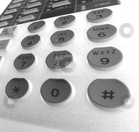 Phone Closeup Inverted stock photo, Keypad Closeup of my desk phone. by Todd Arena