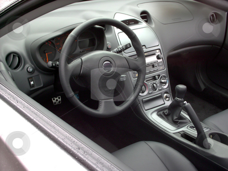 Car Interior stock photo, An interior of a brand new sports car. by Todd Arena