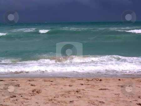 Stormy Miami Beach stock photo, A big storm is coming in fast, on Miami's South Beach by Todd Arena