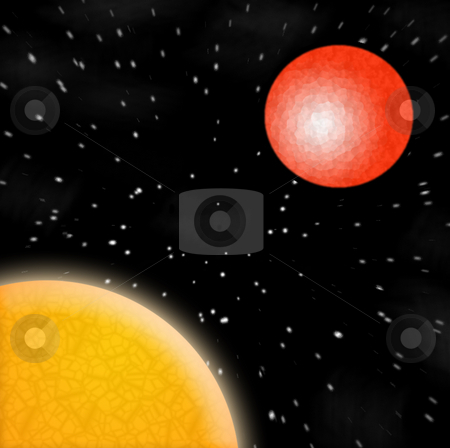 Space Scene stock photo, A digitally generated space scene. by Todd Arena