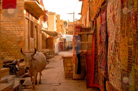 Travelfotografie stock photo, Walking around Jaisalmir is like walking back in the middle ages... by Piero Biondo