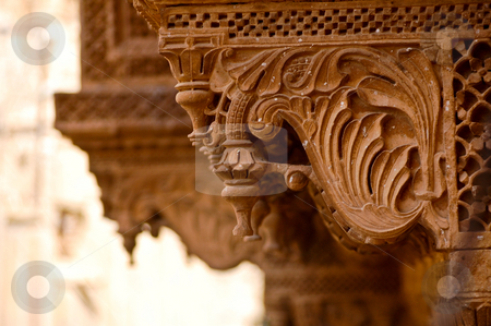 Decoration of Jaisalmir stock photo, The architecture of Jaisalmir, in the indian state of Rajasthan, is decoraded in every detail by Piero Biondo