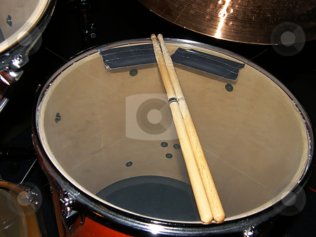 Drum and Drum Sticks stock photo, Drum and Drum Sticks by Dazz Lee Photography