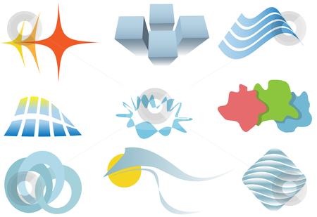 Varied set of colorful design elements or icons stock vector clipart, A varied set of colorful design elements or icons. by Michael Brown