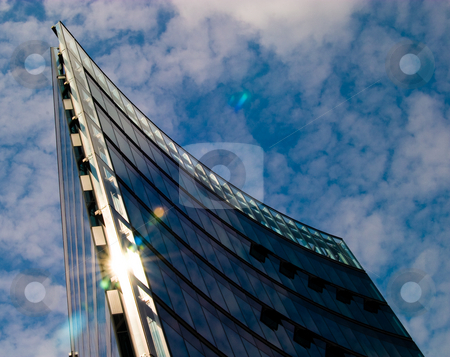 Curved offices stock photo, Modern office building in Berlin by James Janisse
