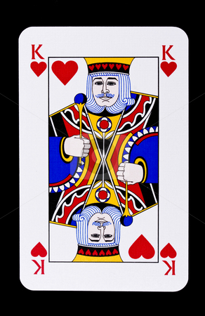 King of Hearts stock photo, King of Hearts playing card by Ingvar Bjork