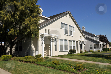 Duplex stock photo, Duplex home, Mountain View, California by Harris Shiffman
