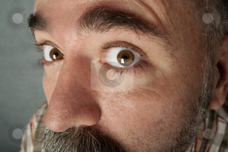 Extreme closeup of man in his 40s stock photo, Extreme closeup of a man in his forties with mustache by Scott Griessel
