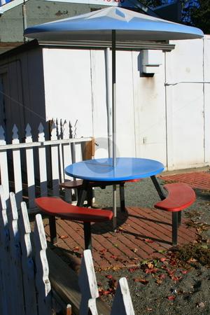Patio Table Set stock photo,  by Michael Felix
