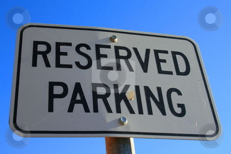 Reserved Parking Sign stock photo,  by Michael Felix