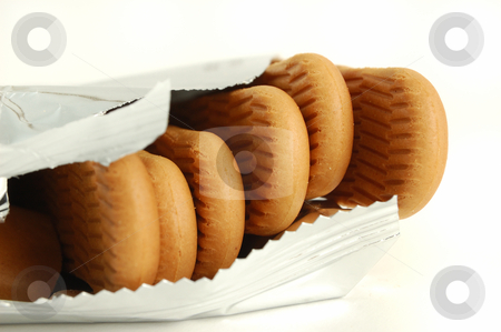 Close-up of cookies on white background stock photo, Close-up of cookies on white background by ALESSANDRO TERMIGNONE