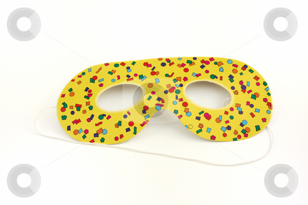 Carnival Mask stock photo, Carnival Mask isolated over a white background by ALESSANDRO TERMIGNONE