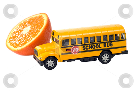Healthy School Concept stock photo, Concept image of healthy eating at a school, isolated against a white background by Richard Nelson