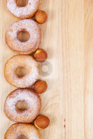 Doughnut stock photo, Fresh and warm doughnuts  as background by Jolanta Dabrowska