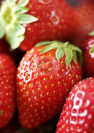 Strawberrys stock photo, Closeup of strawberries by Liv Friis-Larsen