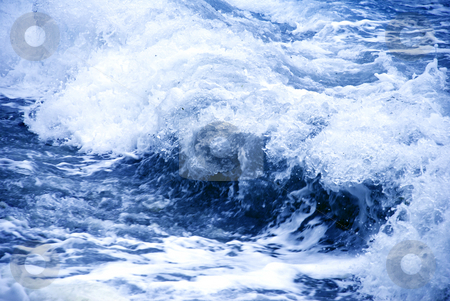 Storm blue wave stock photo, Big storm wave formation over blue water by Julija Sapic