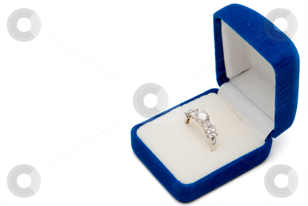 Wedding Ring stock photo, A wedding ring in a jewelers box. by Robert Byron