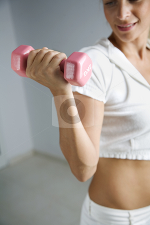 Work out stock photo, Young fmale working out by Liv Friis-Larsen