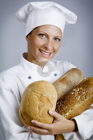 Happy baker stock photo,  by Liv Friis-Larsen