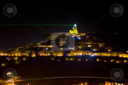 Light show Tsarevets fortress stock photo, Light show Tsarevets fortress Veliko Turnovo Bulgaria by Desislava Dimitrova