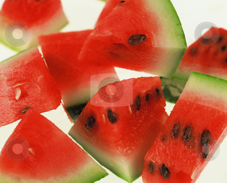 Watermelon stock photo, Watermelon cut into Pieces, 3513x2834 Pixel, 28,5 MB, 300 dpi by Ute Wingenfeld