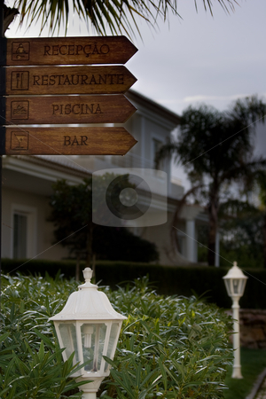 Holiday Resort Directions stock photo, Holiday Resort Directions by Kevin Woodrow