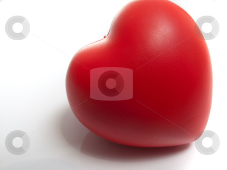 Red Heart stock photo, Red Heart, isolated on white. by Kevin Woodrow