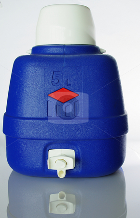 Drink Canteen stock photo, A large blue insulated water cooler by Martin Darley