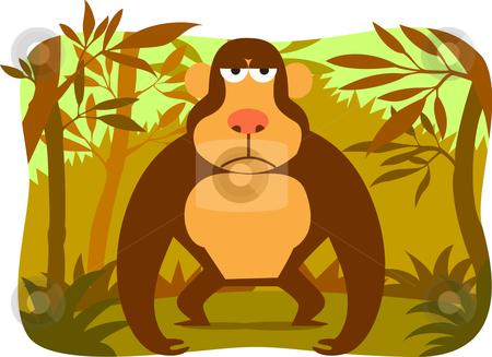 Cartoon gorilla stock vector clipart, Collection cartoon animal by Larintorn Promin
