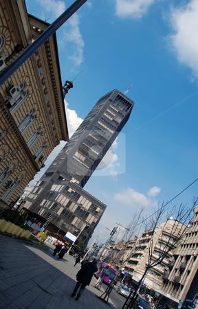 Cityscape Belgrade stock photo, Street in center of Belgrade, Serbia, urban view by Julija Sapic