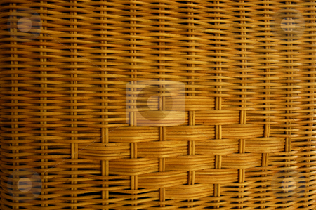 Wickerwork stock photo, Stock macro photo of the texture of wickerwork. Useful for layer masks or as a patterned background. by Alistair Scott