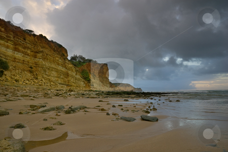 Portugal Beach Series stock photo, Along the beach of