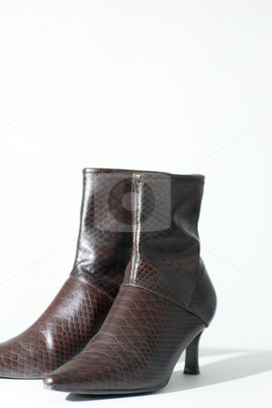 Womans boots, isolated on white stock photo, Womans ankle high boots, isolated on white background. by Kevin Woodrow