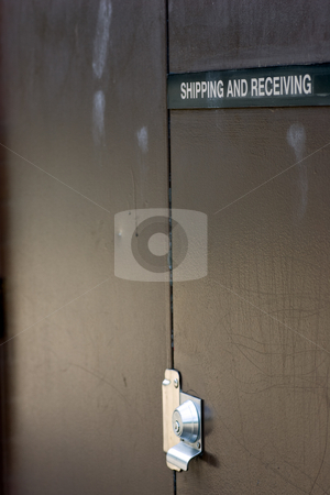 Shipping and Receiving stock photo, A shipping and receiving door. by Kevin Woodrow