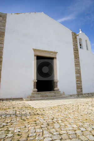 Fort chapel stock photo, A small chapel within the fort outside of Sagres, Portugal. by Kevin Woodrow