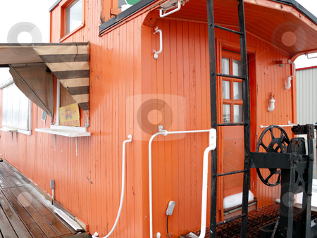 Train Caboose Conversion stock photo, A Train Caboose that was converted to a fast food restaurant, located in St. Jacobs, Ontario. by Kevin Woodrow