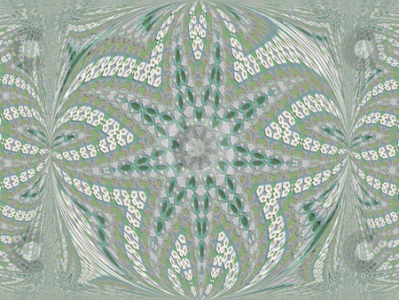 Embroidery stock photo, White,gray and blue abstract geometric resembles a hand made embroidered quilt by Sandra Fann