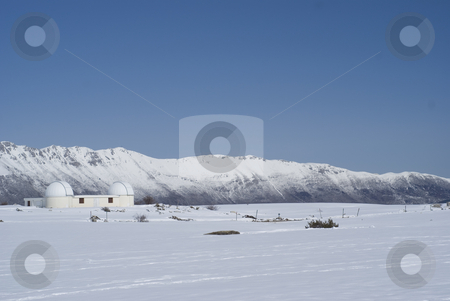 Astronomy stock photo, Observatory site of Calern in winter (french riviera). by Serge VILLA