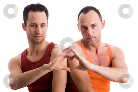 Home couple with a heart shape stock photo, An insight into a happy homo couples relationship by Frenk and Danielle Kaufmann