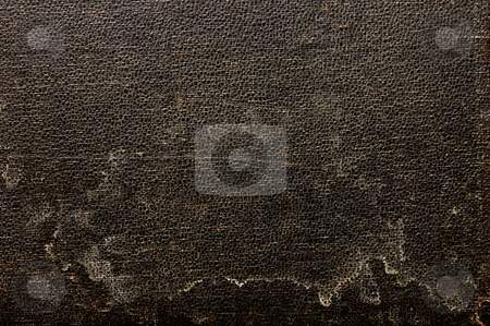 Grungy artificial leather. stock photo, Abstract close up detail of stained and worn artificial leather. by Alistair Scott
