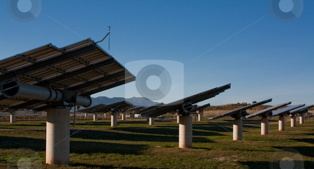 Solar farm stock photo, Solar panels in Almeria Spain by Santiago Hernandez