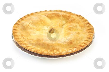 Apple pie stock photo, Whole apple pie isolated on white background by Elena Elisseeva