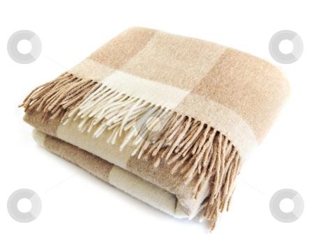 Cozy alpaca wool blanket stock photo, Soft and warm folded alpaca wool blanket with fringe by Elena Elisseeva