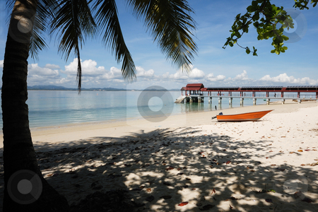 Kapas Island stock photo, Landscape of Beautiful Tropical Beach by Jaggat Images