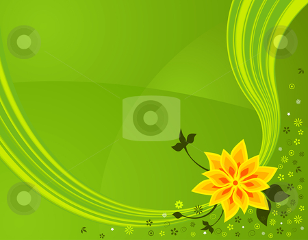 Spring flowers stock vector clipart,  by Paul Turner