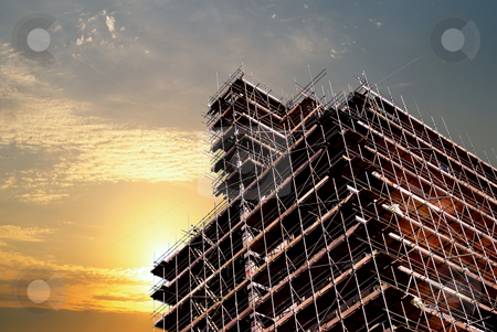 New building stock photo, Construction of a new high-rise building by Paul Phillips