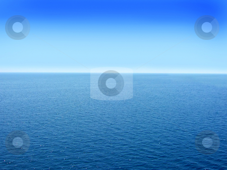Seawater background stock photo, Blue adriatic water seascape abstract background by Julija Sapic