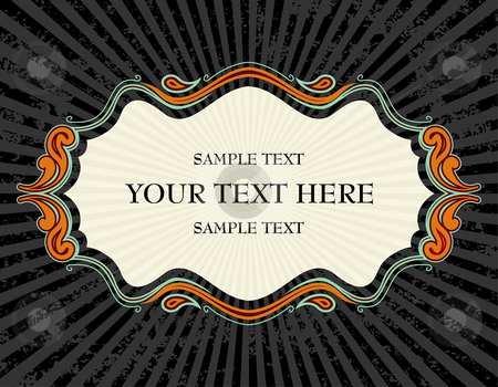 Carnival text frame stock vector clipart, Abstract vector illustration text frame by Paul Turner
