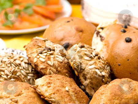 Delicious home made bread rolls stock photo, Delicious home made bread  rolls by Phillip Dyhr Hobbs