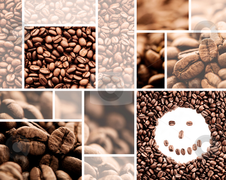 Coffee collage stock photo, Coffee collage by Tommy Maenhout